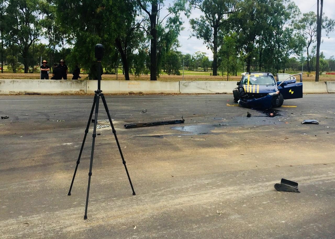 Leica BLK360 mapping car crash