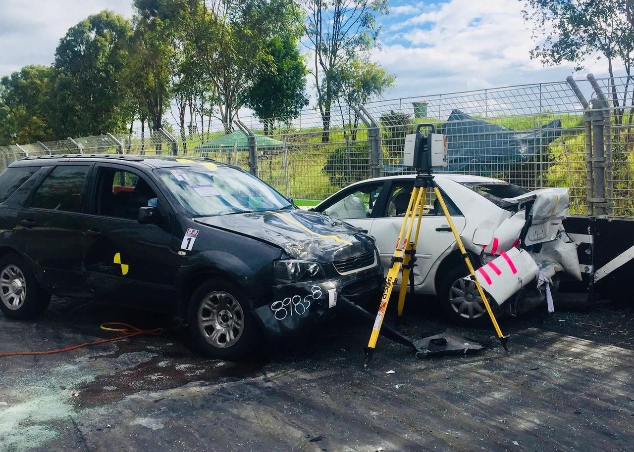 Leica P40 mapping car crash