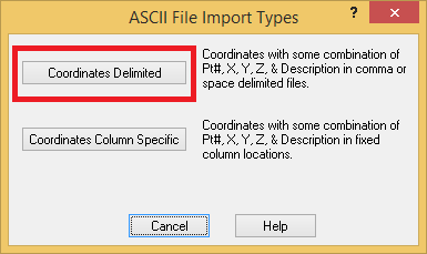 Tutorial 1, Part 3b – Import ASCII file
