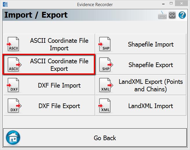 ASCII Export